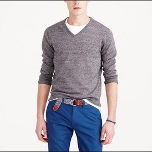 J Crew V Neck Marled Pullover Sweater Men's Popove